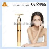 new portable high frequency vibrating 24k gold magic beauty bar for facial care with CE & ROHS