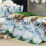 Wholesale 3D Horse Design microfiber printed bedding set
