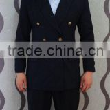 Black Army Used Men's Business Suit Military Uniform