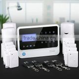 Fashion black home alarm system DIY package,App control GSM alarm|wireless alarm system for house protection