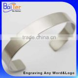 Custom Cheap Personalized Adjustable Wide Cuff Bracelet Blank For Engraving