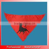 Lvming Cheap satin triangular flag,50*50*70cm fans bandana for advertising