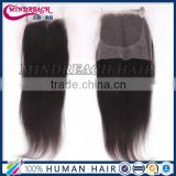 Top grade bleach knots free/middle/3 part Indian human hair closure coarse yaki lace closure