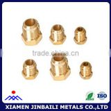 Natural color brass hexagon screw nuts