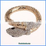 Wholesale Hot Sale Gold Metal & White Rhinestone Snake Bracelets PFB-001A