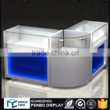 High standard wood glass mobile counter design
