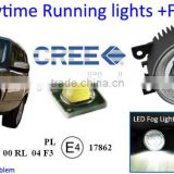 Super bright LED daytime running light for Land-Rover Freelander led drl fog light fog lamp