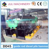 JULI Brand DD45 guide rod type diesel pile hammer for crane pile driver in Philippines & Indonesia