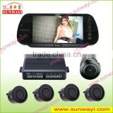 bluetooth reverse camera rearview mirror parking sensor system