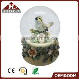 custom xmas bird musical snow globe for kids                                                                                                         Supplier's Choice