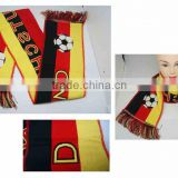 Germany series football fan printing scarf Custom 2016 Football European Cup Fans Scarf Gift
