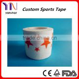 Popular Cotton printed sports tape manufacturer CE FDA ISO certificated free samples
