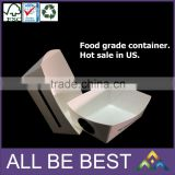 food grade single PE cookie wandwich container food tray