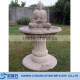 Outdoor Stone Buddha Garden Water Fountain