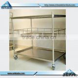 Laboratory /Hospital Stainless Steel Medical Trolley For Sale