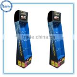 China Factory Ad Value Display Wholesale Hooks Cardboard Display/ Paper Floor Display with Hooks/ Pegs Display Rack