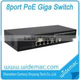 8 Ports Gigabit Gigabit POE Ethernet Switch with steel case from China supplier (WD-1008GP)