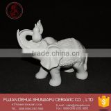 Creative White Ceramic Elephant Statues For Home Decoration
