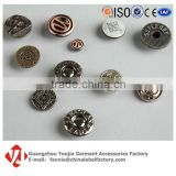 Factory Wholesale Custom Screw Jeans Metal Button Snap Press Rivet Shank Push Denim Pants Fastener Button Hooks