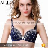 Ladies Women's Lace Sexy Push Up Bra Sets with Underwear Cup B-C