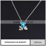 Fashion design pendant 925 sterling silver animal jewelry synthetic opal jewelry pendant from China