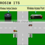 Rosim magnetic wireless vehicle detector speed sensor for traffic intersection management