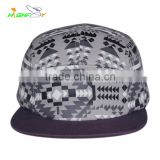 wholesale/high-quality 5 panel printed customize flat brim camp cap,Hip hop cap, camouflage baseball hat