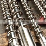 Hard-chrome electroplating screw and barrel for recycled plastic