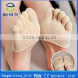 Women Cool Gel Moisture Socks Non-skid Half Foot Toe Socks Ballet Invisible Moisturizing Toe Socks