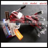 Top quality G.T.POWER White / Red / Orange cable 8 LED Light System for RC 4WD Rock crawler rc car