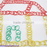 Girls Favorite Decorative Rainbow Hand Mini Rubber Band Colored Elastic Fun Loom Rubber Bands