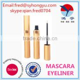 [Mascara Container]2015 Custom Gold Empty Aluminum Eyeliner container, best waterproof mascara tube