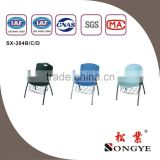 AP writing tablet chairs school furniture plastic chair with writing tablet plastic chair with writing pad
