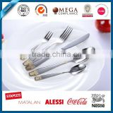 Top quality Western-style stainless steel cutlery with black gold planted, pvd cutlery,stainless steel cutlery holder