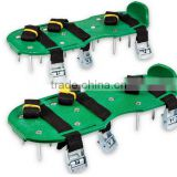 Lawn Aerator Shoes w/Metal Buckles and 3 Straps Lawn Aerator Sandals, Turf Aerating Shoes