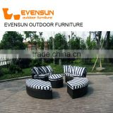 Sun Lounger Specific Use and Modern Appearance outdoor rattan sunbed