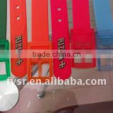 good design cheap price eco-friendly color silicone belts for students