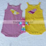 100% Cotton Romper Plain Short Sleeve baby onesie