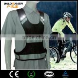 Flashing LED safety black mesh vest light up at night