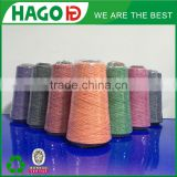 16s hago cotton blended 100% spun polyester yarn manufacturer china supplier import in europe