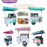 ice cream display bicycle/gelato display carts/popsicle showcase bike(CE)