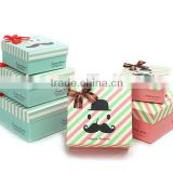 New Fashion Unique Moustache Beard Lovely Paper Gift Box Case Favor Present Set Boxes Gift Wrap