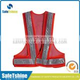led light mesh safety vest high visibility reflective vest