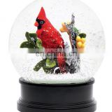 Resin birds snow globe for souvenir