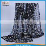 hot sell beautiful all-match black 155*150cm Piano scarf