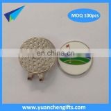 2016 no mold fee golf cap clip golf ball marker wholesale