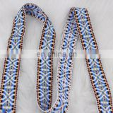 2016 high quality customized embroidery jacquard ribbon woven tape garment