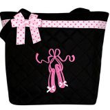 quilted fabric dance bag with shoulder from China factory