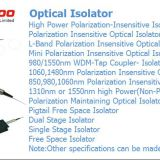 Single stage isolator 1310nm fiber optic isolator