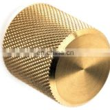Custom made high quality potentiometer control knurled brass knob